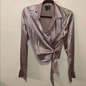 Lafayette Classic Silk Wrap Blouse